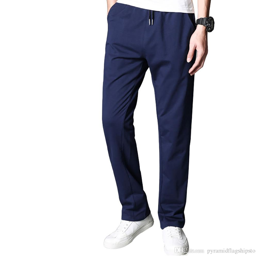 f57ce55989057 Mens Joggers Brand Male Trousers Men Pants streetwear Casual Solid Pants  Sweatpants Jogger navy blue Sweatpants XXXL