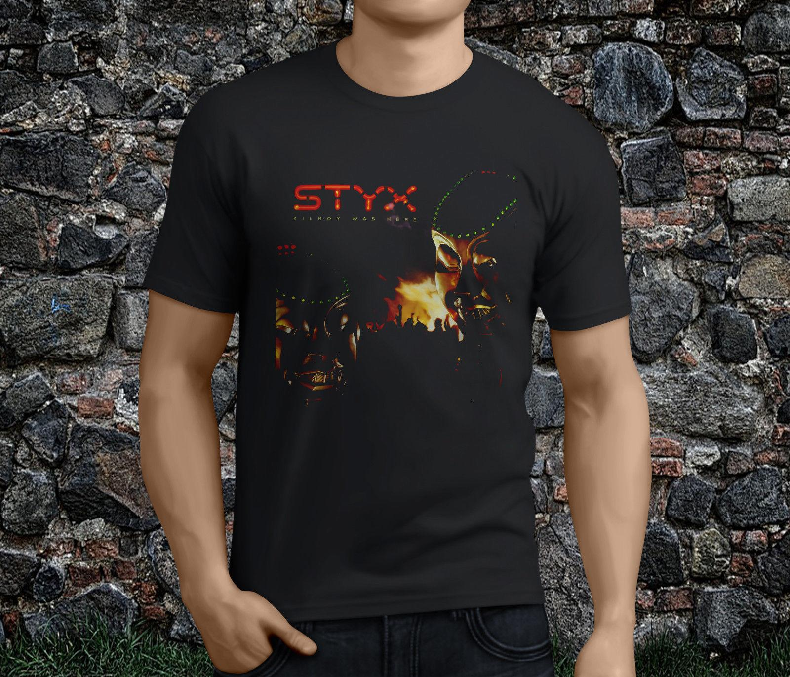 b47bbe42324 New Popular STYX Kilroy Was Here American Rock Band Black Men's Tshirt  S-3XL New Brand-Clothing T Shirts Printed Men T Shirt Clothes