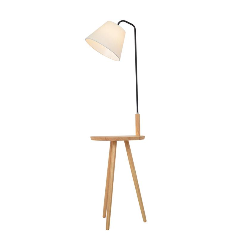 2018 nordic style floor lamp lights oak wood table simple fashion design lights for living room country house bar hotel livingroom from burty
