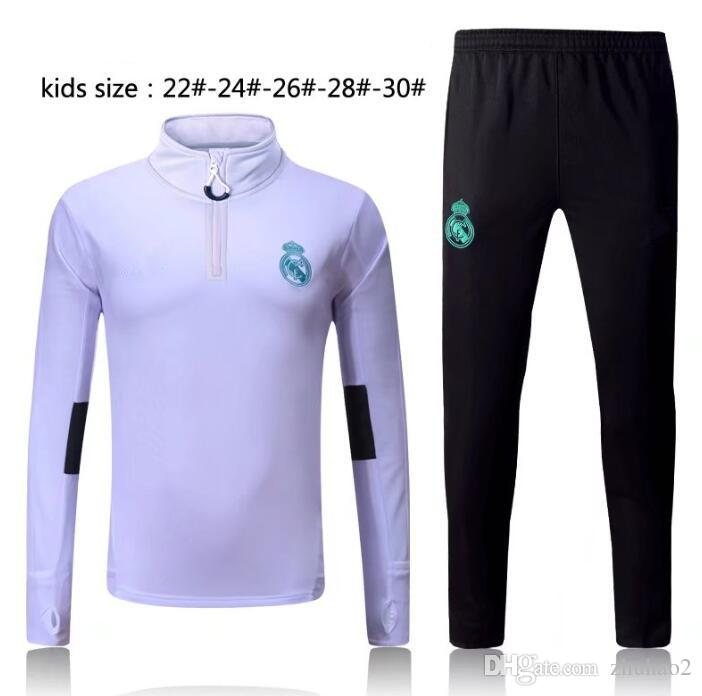 9410e47aa 2018 19 Kids ASENSIO De Foot ISCO Youth Jacket Pants Training Suit 2018  Real Madrid Kids Football Jacket Tracksuit UK 2019 From Zhuhao2