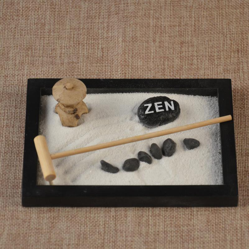 2019 Hand Make Wooden Craft Zen Garden Decoration Resin Figurine