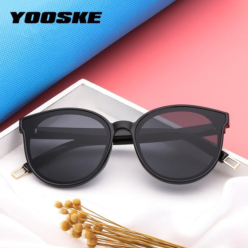 965fcb9611347 YOOSKE Vintage Round Sunglasses Women Brand Designer 2018 Cat Eye Sun  Glasses For Women Female Ladies Red Black Sunglass Mirror Heart Sunglasses  Circle ...