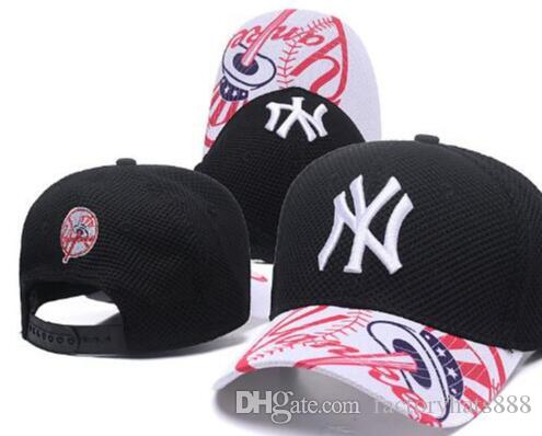 bb8ecb6c8c7 2019 Sports Baseball Cap Ny Curved Brim Flat NY Hat Slouch Embroidery  Thounds Styles Outlet Adjustable Snapbacks Hats Drop Shipping Trucker Hats  Flexfit ...