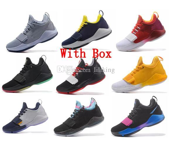 finest selection 5fc9c 85747 Free shipping PG1 Paul George Athletics Yellow black whit PG 1 Los Angeles  Home Sport Outdoor Boots Men Basketball Shoes Size 40-46