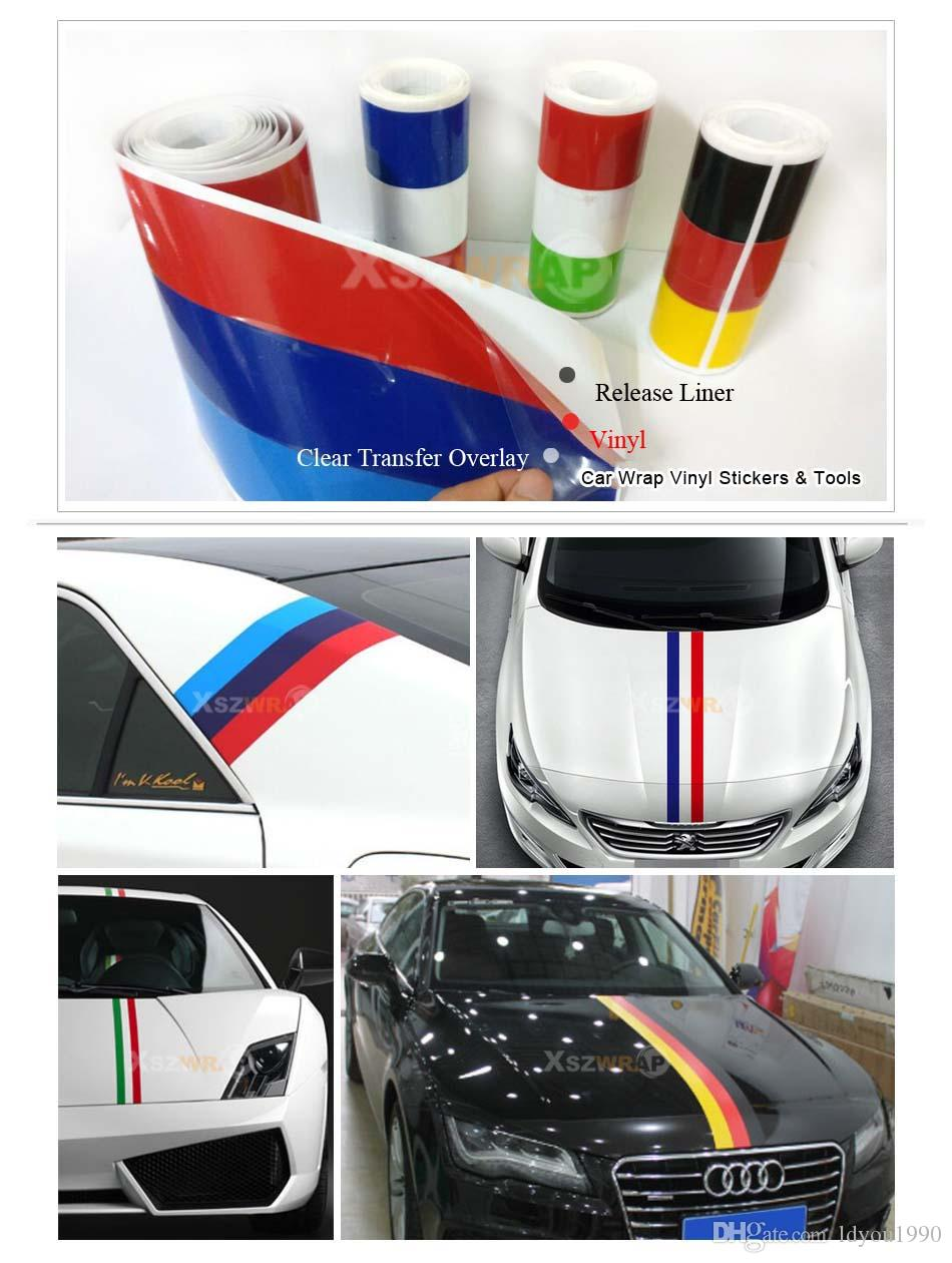 """450*15cm/Roll 175"""" Car styling Car Vinyl Decals Hood Stickers Racing Stripes For All Cars VW Scirocco Beetle Gti"""