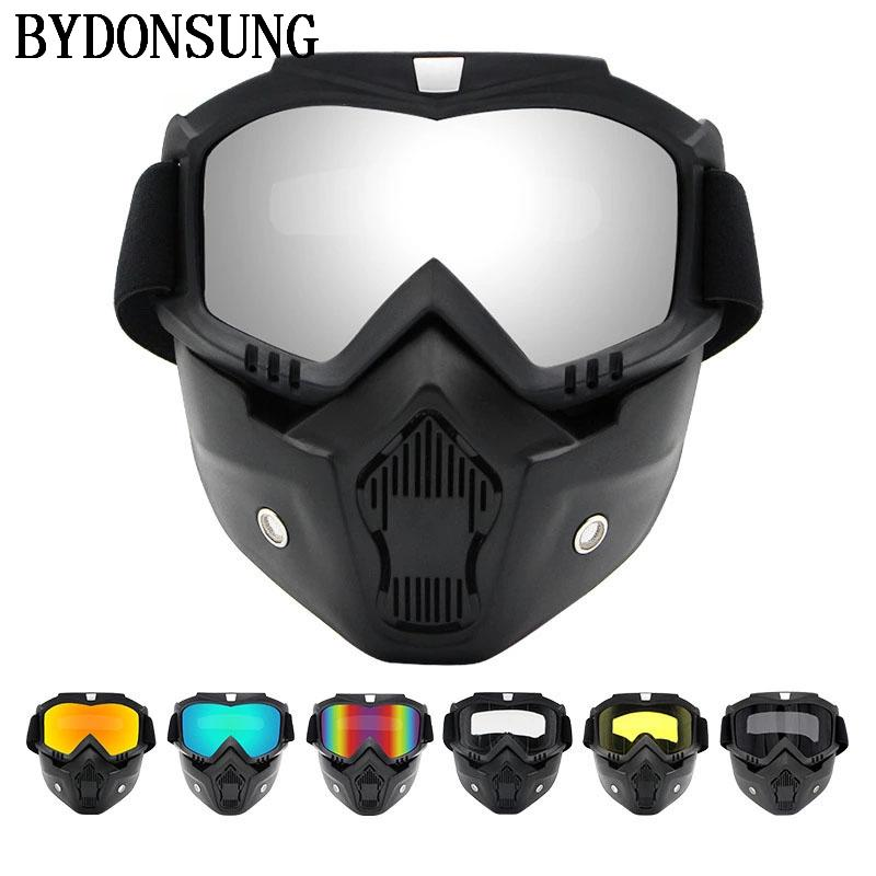 f5f4ed0268f 2019 Cycling Glasses Men Women Dust Proof Cycling Bike Full Face Mask  Windproof Bicycle Snowboard Ski Masks With Anti UV Glasses From Shinyday