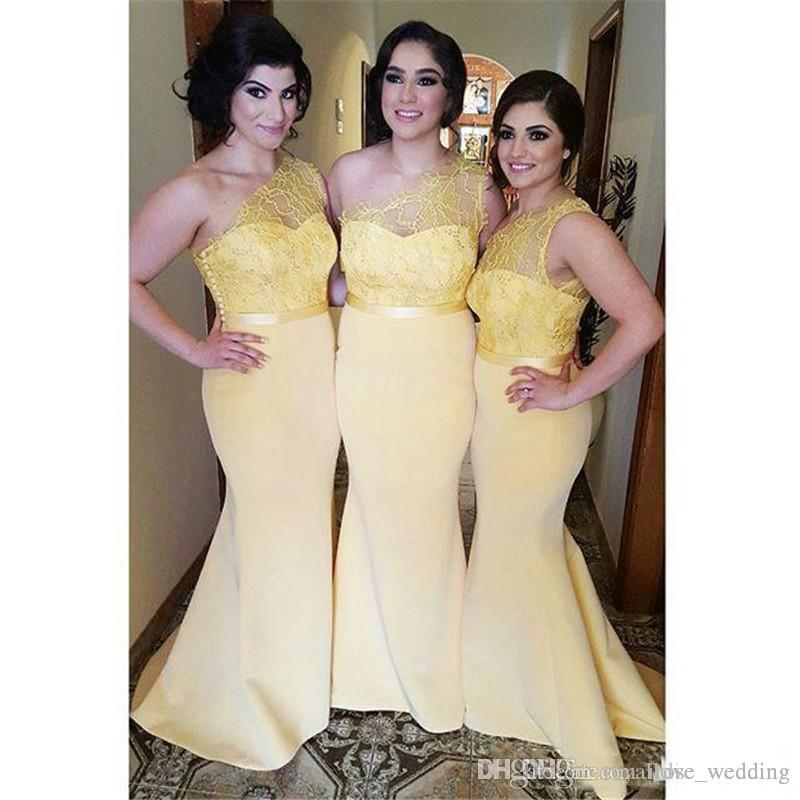Vintage-Inspired Bridesmaid Dresses Pale Yellow