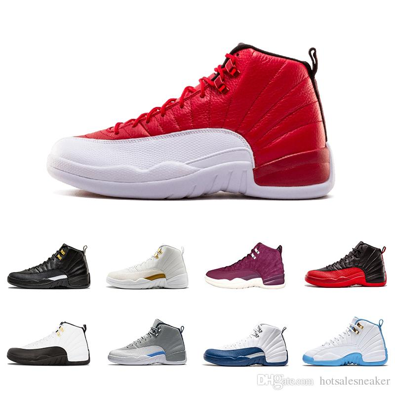 8ac4a1afe289 New Mens Designer 12 12s Gym Red Basketball Shoes Bordeaux Taxi The ...