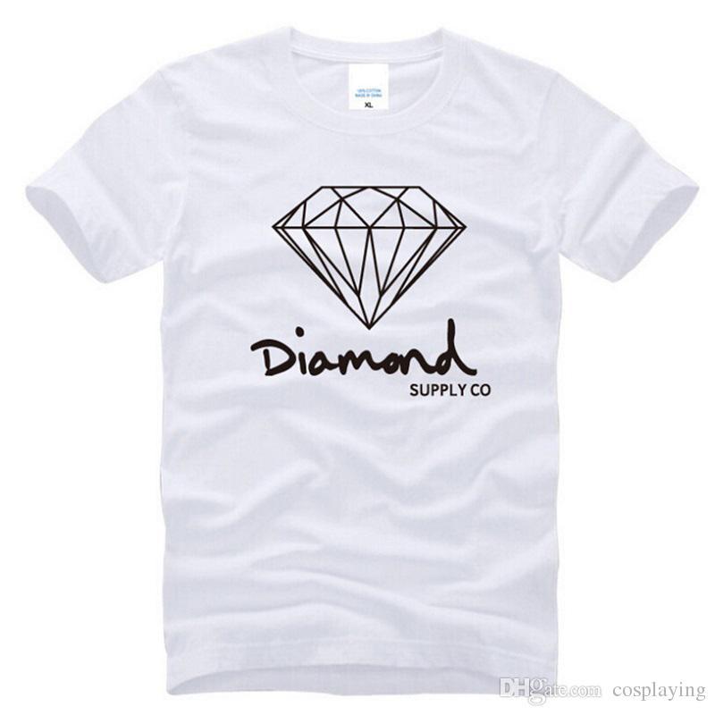 Elmas Kaynağı Co baskılı T-shirt erkek moda marka tasarım giysi MAle Güney Sahil Harajuku Skate hip hop kısa kollu spor
