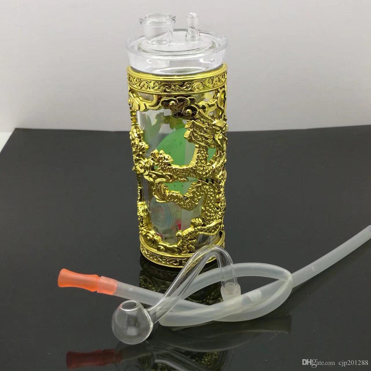 O novo acrílico com longa hookah grosso de vidro bongs Pipes queimador de óleo de água vidro Plataformas de petróleo para fumantes