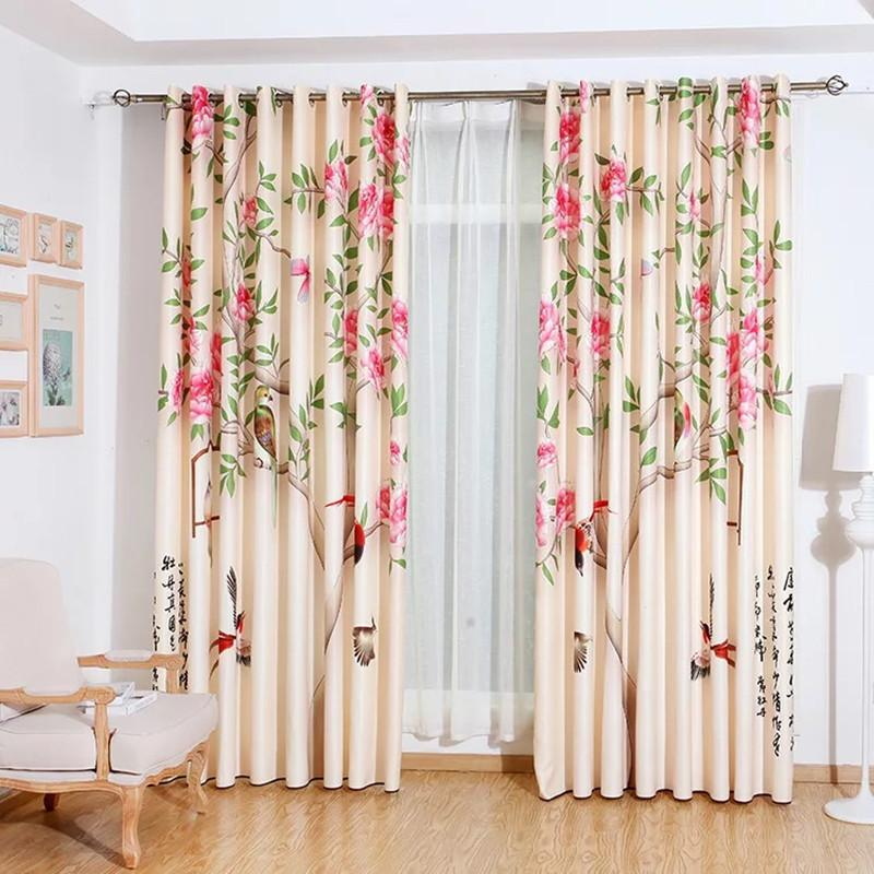 Home hotel curtain blackout curtain 3D digital printing curtain fabric  bedroom living room finished curtains