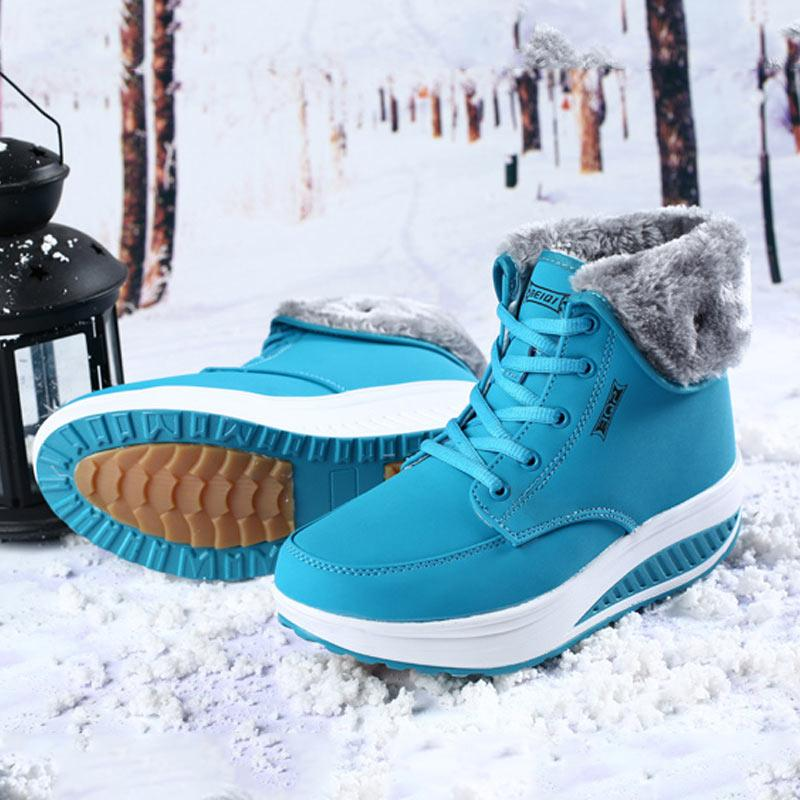 c5b0b7330aeefc Shoes Woman Boots 2018 Winter Hot Sales Female Boots Fenty Beauty Snow Plus  Size Warm Lace Up Plush Ankle For Women Boots Shoes Ankle Boots For Women  From ...