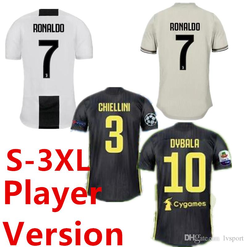 7a372d4f8 2019 Thailand RONALDO Juventus 2019 Soccer Jerseys DYBALA 18 19 Football  Kit MANDZUKIC Shirt Top Fans Player Version Champion League JUVE CR7 From  Lvsport