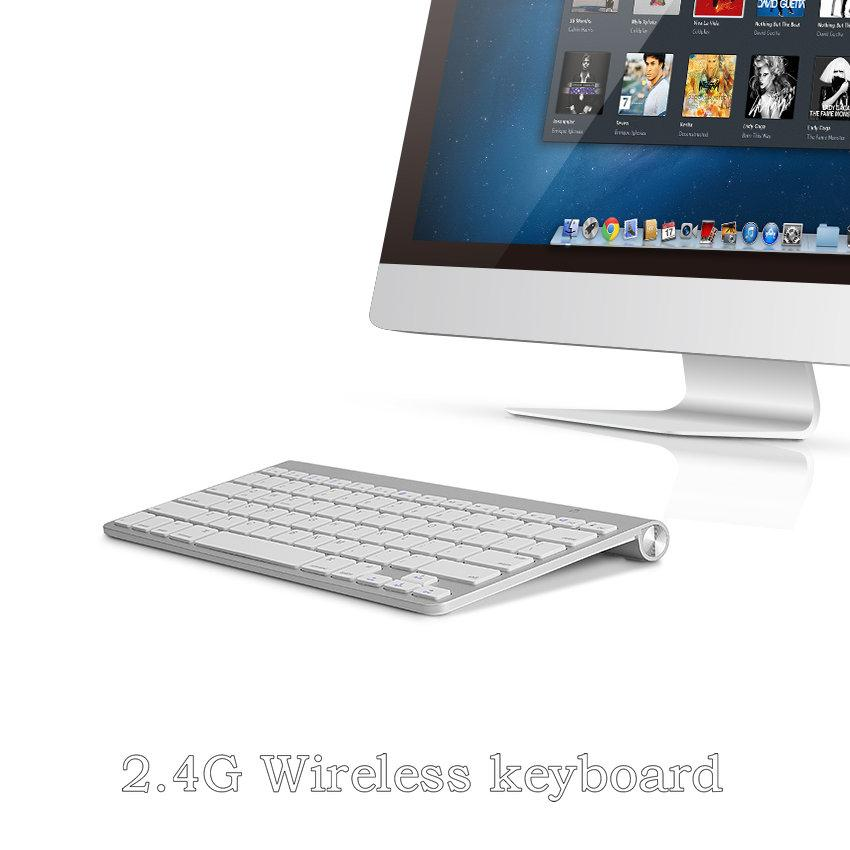 Ultra slim 2 4G Wireless Keyboard Russian Spanish Hebrew Keyboard For  iPhone ipad,Macbook,Tablet,PC With Android ios Windows
