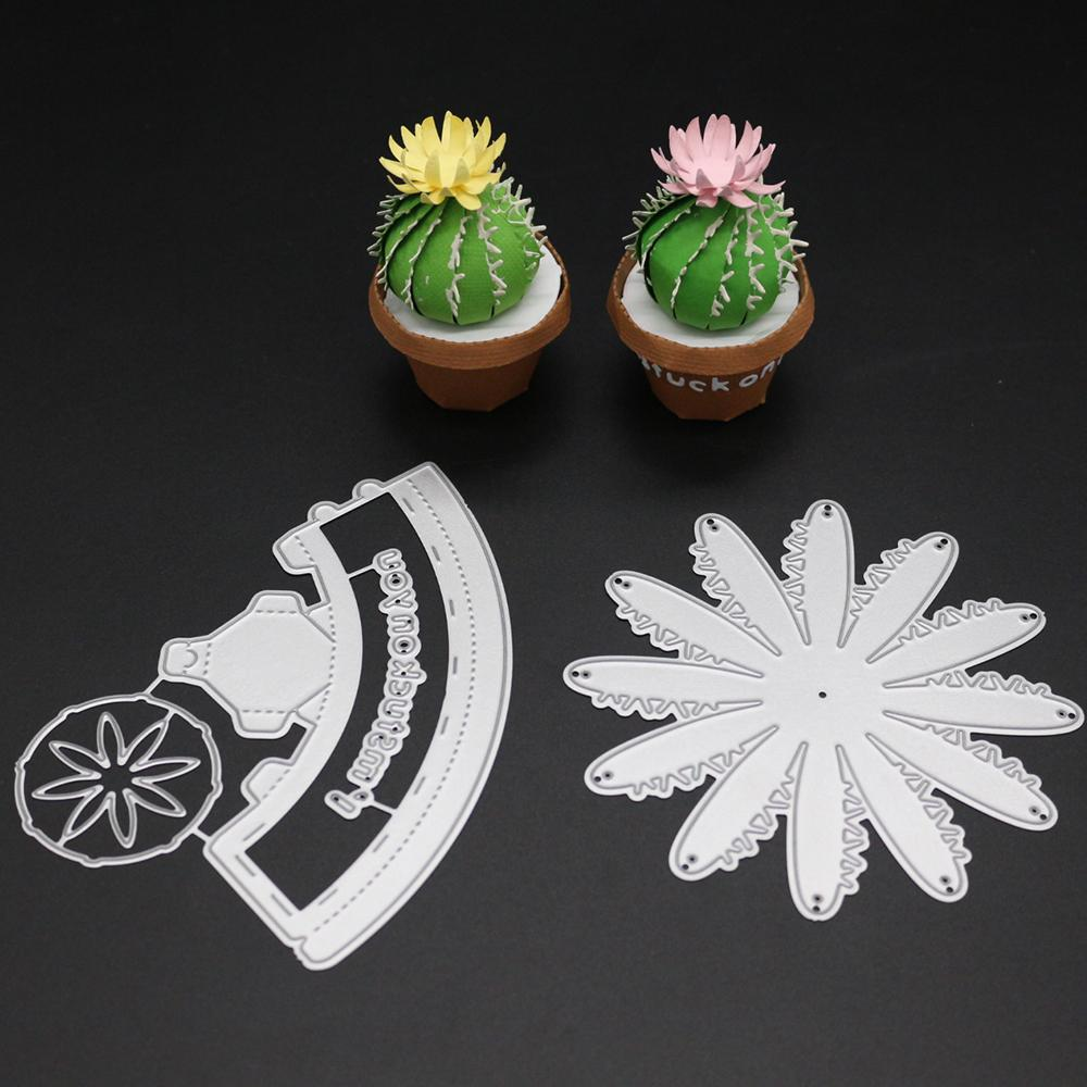 2019 2018 Metal Succulent Plants Cutting Dies For Scrapbooking 3d Stencils Embossing Paper Cards