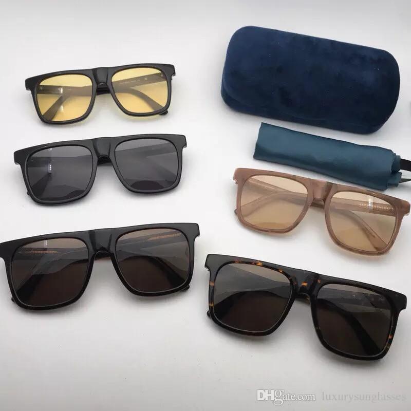 e34274079f141 Compre AAA Luxo Óculos De Sol Para As Mulheres Projeto 0347S Quadrado Verão  Pequenas Estrelas Estilo Retângulo Quadro Cheio Top Quality Proteção UV Vem  Com ...