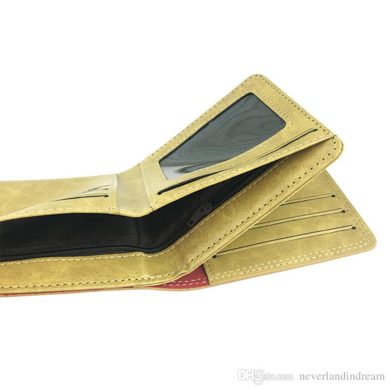 Cosplay Anime Mass Effect PU Leather Wallet Short Card Holder Design Purse for Button Money Clip