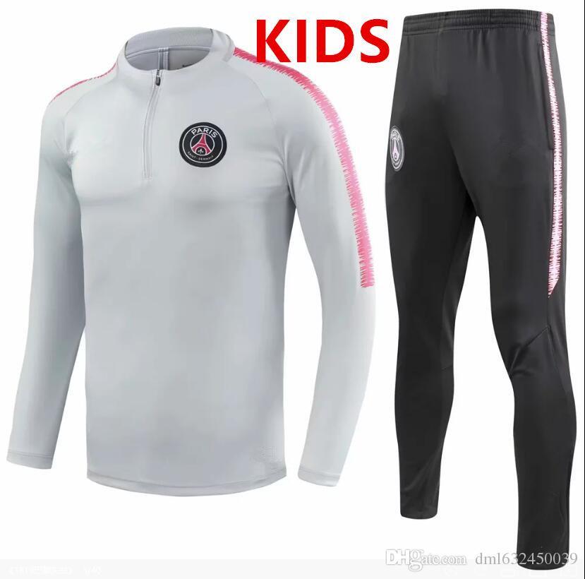 b6ae40120ad PSG Tracksuit New 2018 2019 Paris Soccer Training Suit KIDS ...
