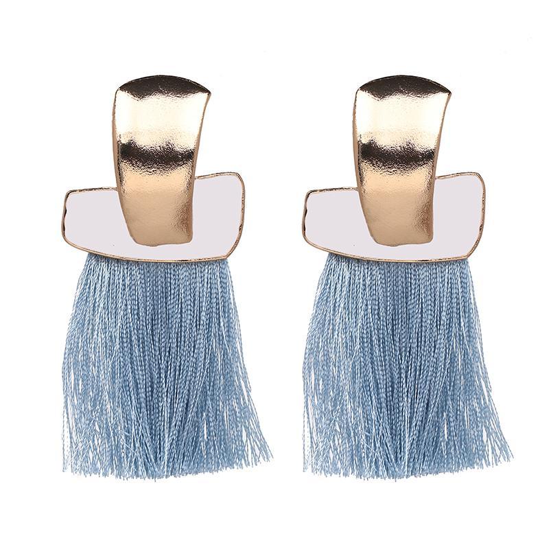 JURAN Charming Novo Design Franjas da moda Long Jóias Hot Sale Gota Tassel Brincos para Mulheres festa de casamento presente Meninas