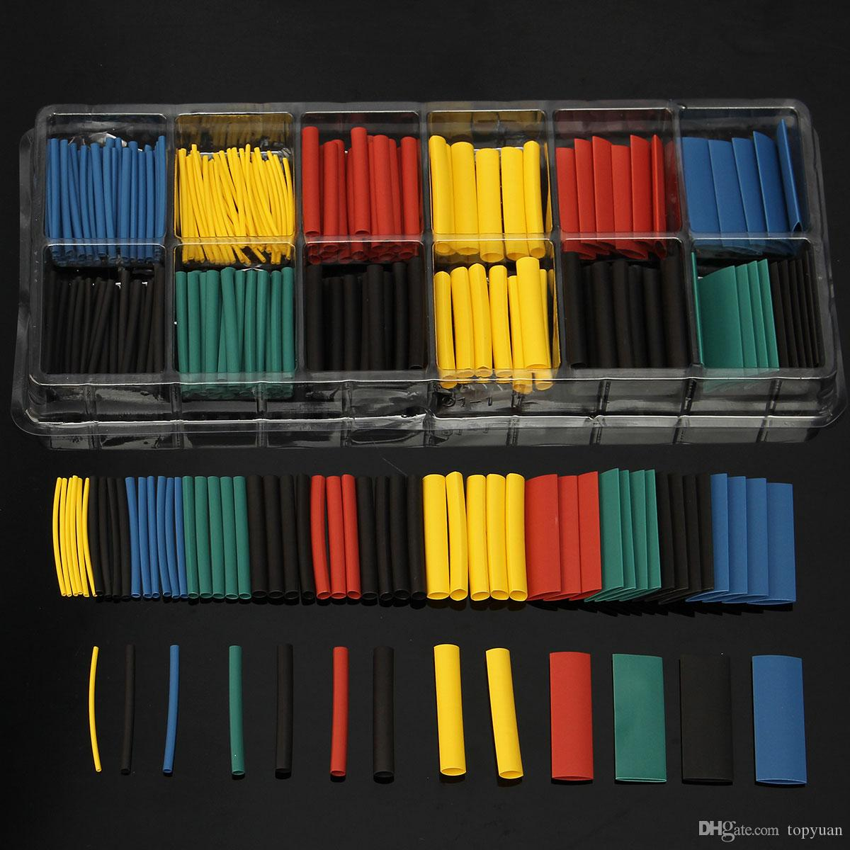 Assortment Ratio 2:1 Heat Shrink Tubing Tube Sleeving Wrap Kit with Box
