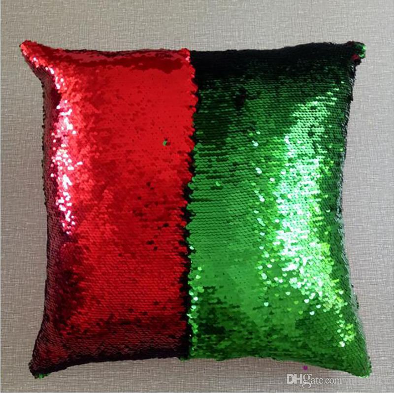 Блесток наволочка крышка Русалка наволочка блеск обратимым диван двойной обратимым салфетки подушка 40 дизайн наволочка по niubility