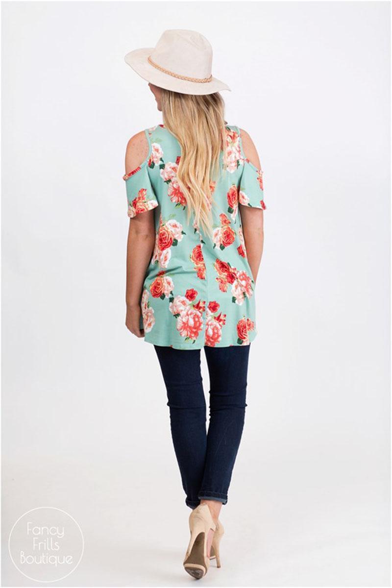 2018 여성 티셔츠 패션 꽃 꽃 프린트 반팔 셔츠 섹시한 오프 어깨 캐주얼 슬림 여름 숙녀 점퍼 탑스 블라우스 티