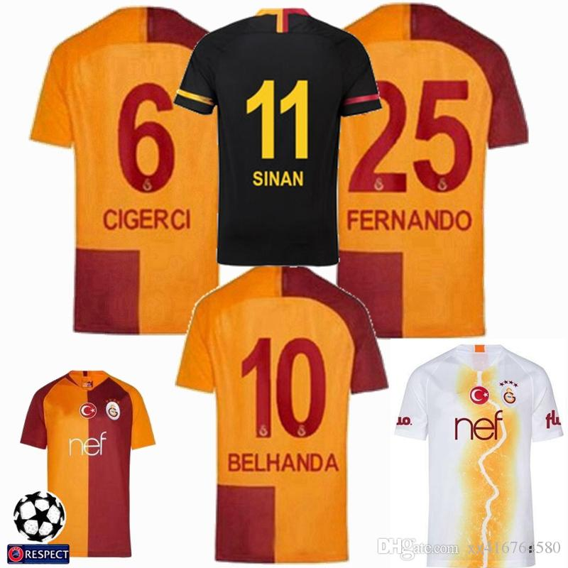 2019 18 19 Turkey Galatasaray Soccer Jerseys Home Away 3rd 2018 2019  CIGERCI BELHANDA FERNANDO FEGHOULI FOOTBALL SHIRTS THAILAND QUALITY From  Xx416764580 a628e5a3c