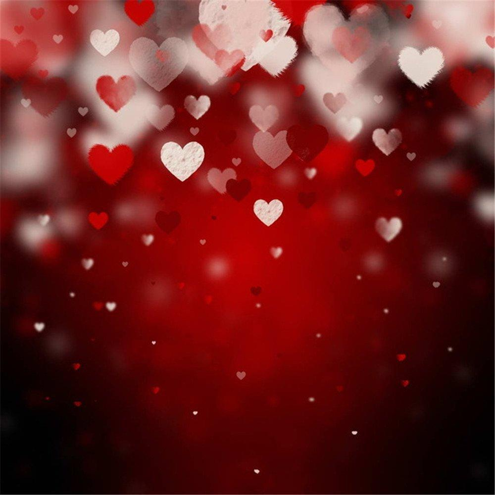 5x7ft vinyl digital pink red hearts valentines wedding photography studio backdrop background pink red hearts valentines backdrops wedding background online - Valentines Backdrops
