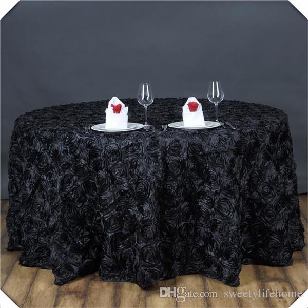 3d satin rosette table cloths black color encryption rose banquet rh dhgate com