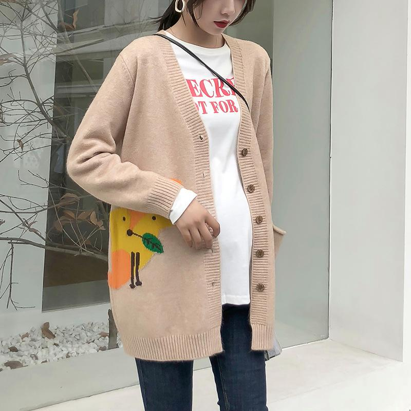 6e54a181cd284 2019 Autumn Winter Pregnancy Clothing New Style Pregnant Women Cardigan  Coat Knitted Sweater Top Jumpers H370 From Sophine14, $80.27 | DHgate.Com