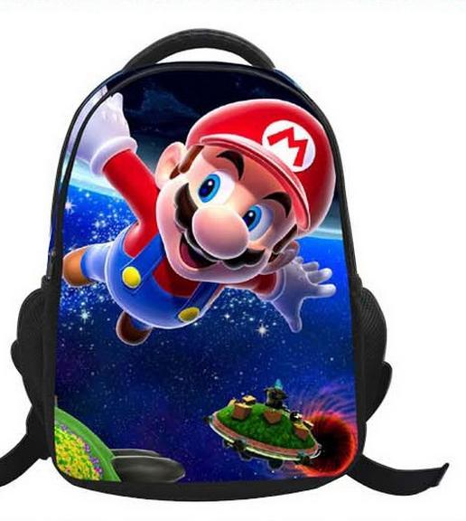16-Inch Cartoon Children Kids Backpacks Cartoon Super Mario Bag ... 26bfdca0ed