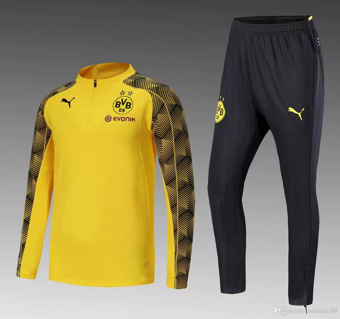 63c449fcb 2019 New 18 19 Season Dortmund Jacket Gomez 2018 2019 Home Away Tracksuits  Soccer Jersey Gotze Training Suit From Ronaldo88, $42.61 | DHgate.Com