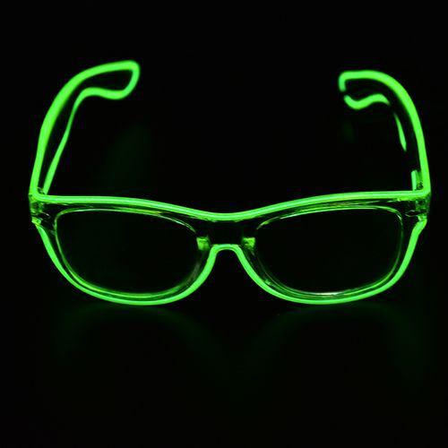 El Glasses El Wire Fashion Neon Led Light Up Shutter Shaped Glow ...