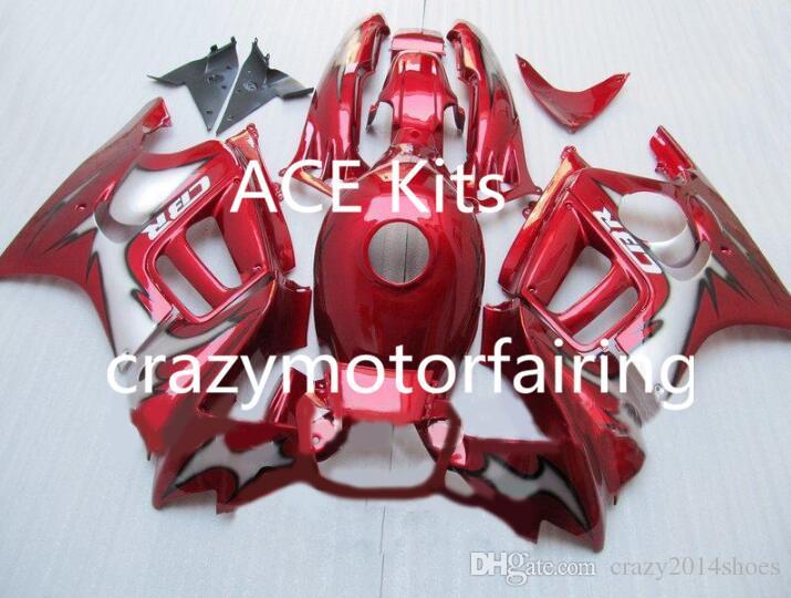 HONDA CBR600F3 95 96 CBR600 F3 CBR 600F3 için motosiklet Kaporta kiti 1995 1996 ABS sıcak Kırmızı Fairings seti + 3 golşle 30