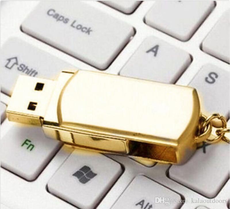 Золото серебро металл 64 ГБ 128 ГБ 256 ГБ USB 2.0 флэш-накопитель памяти для Android ISO смартфонов таблетки PenDrives U диск