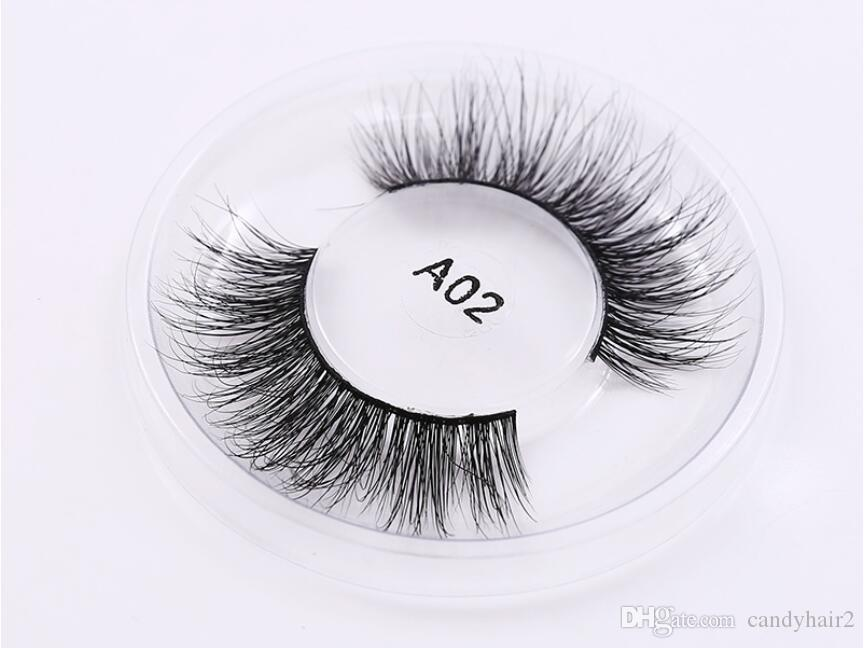 3D Real Mink hand made Lashes Soft Natural False Eyelashes Eye Lashes Extension mink False long lasting private label custom package