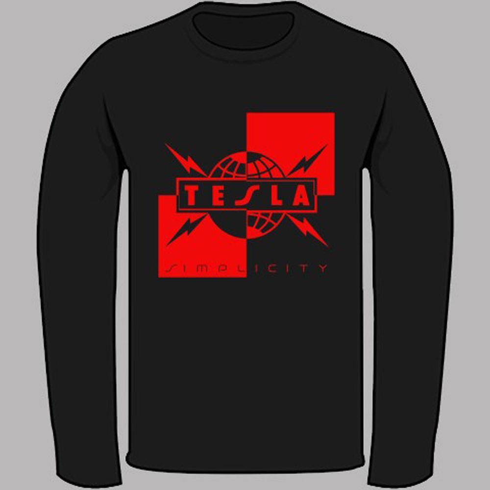 c80e09fa New TESLA Simplicity Rock Band Legend Black Long Sleeve T Shirt Size S 3XL  Create T Shirts Skull T Shirts From Caisemao05, $15.74| DHgate.Com