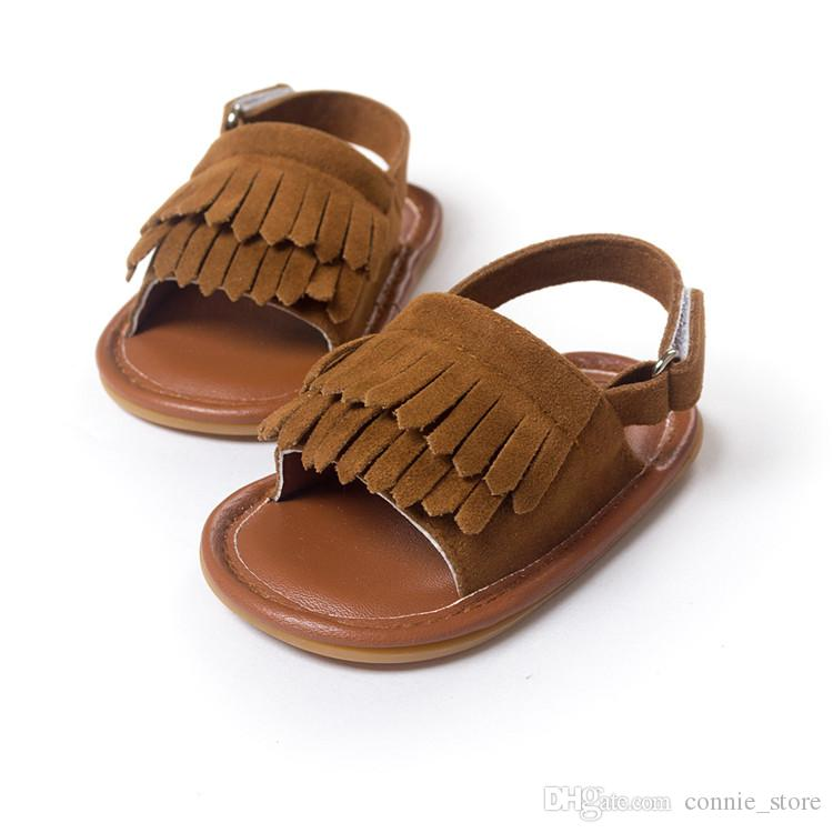 HOT Summer Baby PU Leather Sandals Moccasins Tassel Girls Boys High Quality Baby Sandals Soft Sole Toddler Shoes NC107