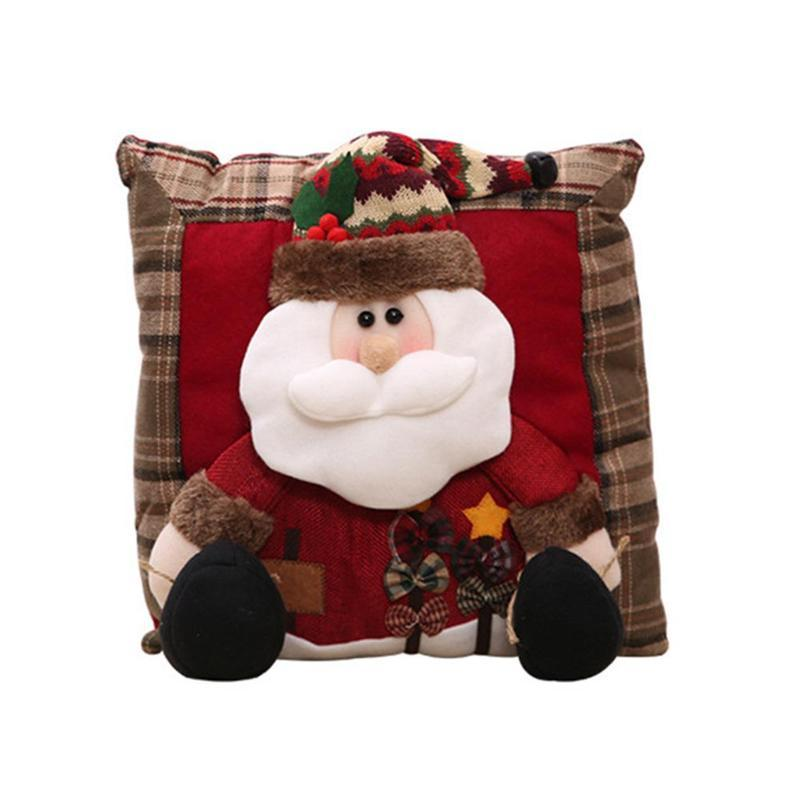 christmas linen pillow santa claus snowman merry christmas decorations home decorative pillows new year gift pillows vqt2891 cheap throw pillow living room - Christmas Decorative Pillows