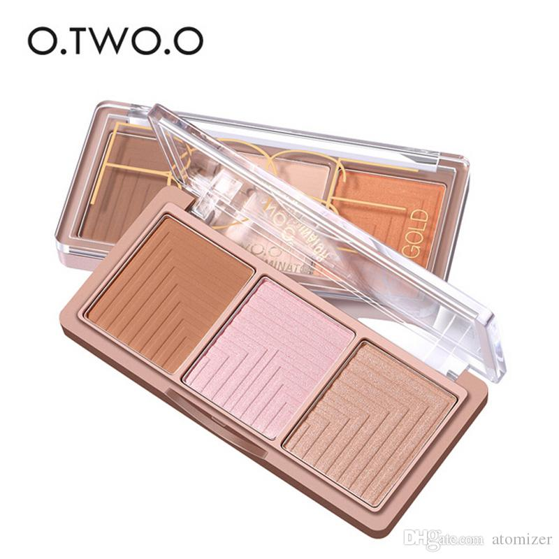 2018 O.TWO.O Brand Highlighter Powder Blush Palette 3D Face Contour Highlighter Shading Powder Face Makeup 3001256