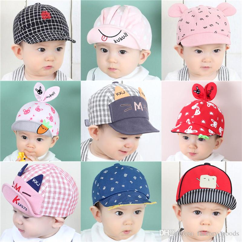 2d6ceb0862c Baby Hats 3D Cartoon Baseball Caps Infants Cotton Sun Hat For Boys Girls  Rabbit Ear Cap Spring Autumn 718 Online with  3.38 Piece on Factory goods s  Store ...