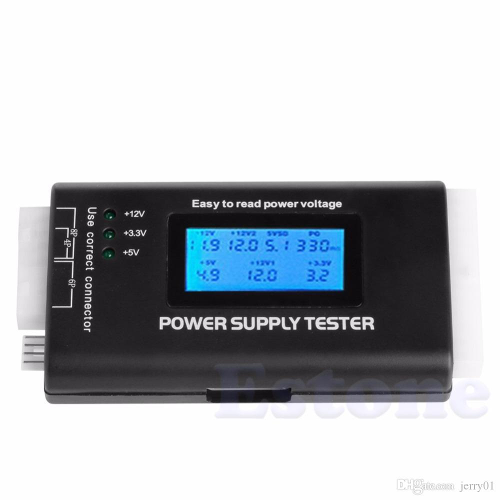 Lcd Power Supply Tester Multifunction Computer 20 24 Pin Sata Lcd ...
