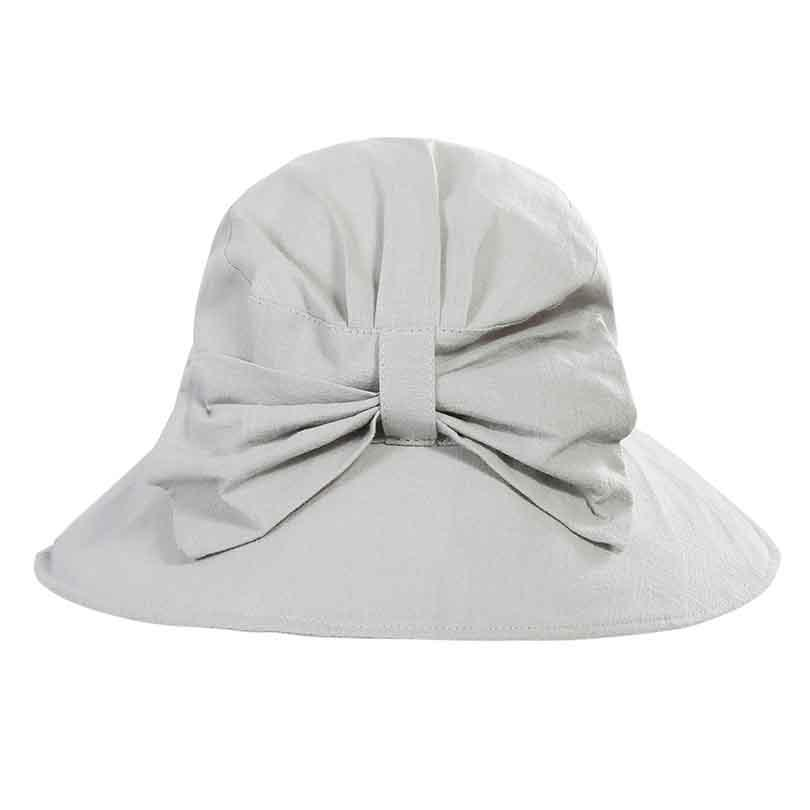 b87443a4253 Spring Summer Hats For Women Lady Cotton Flower Bow Bucket Hat ...