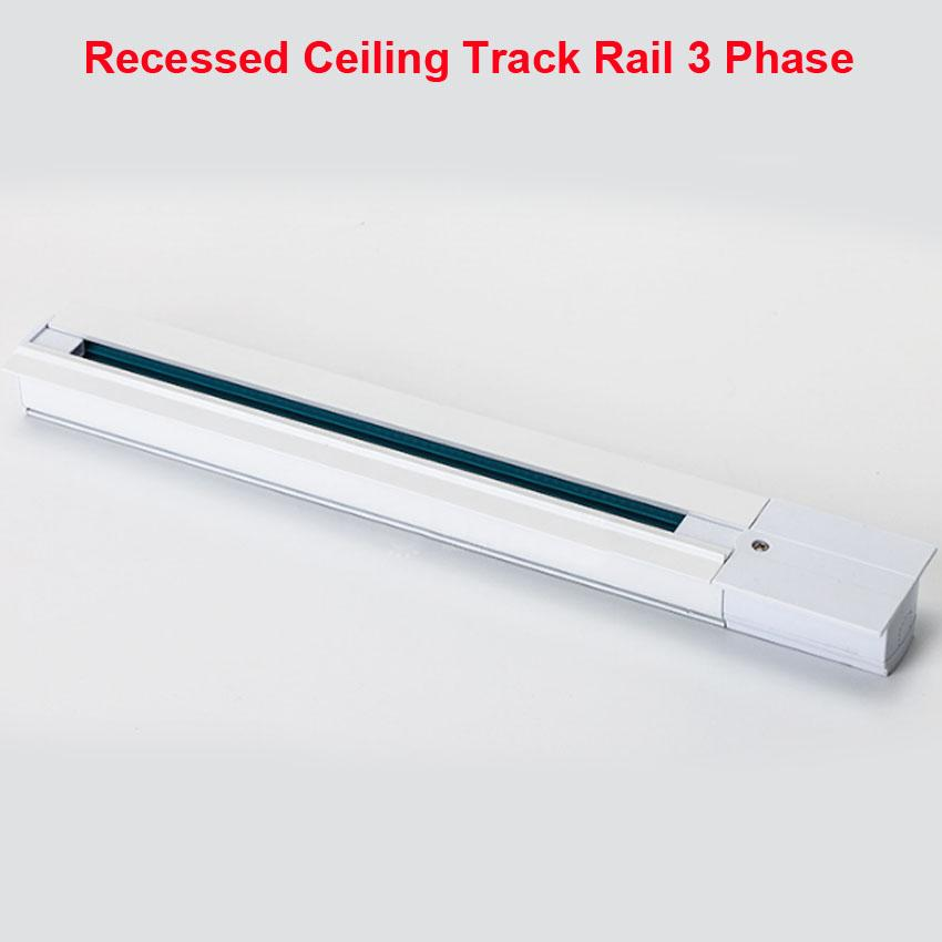 2019 1m lighting track rail 3 phase 3 circuit 4 wires aluminium track light  system recessed ceiling black white rails from burty, $274 05 | dhgate com