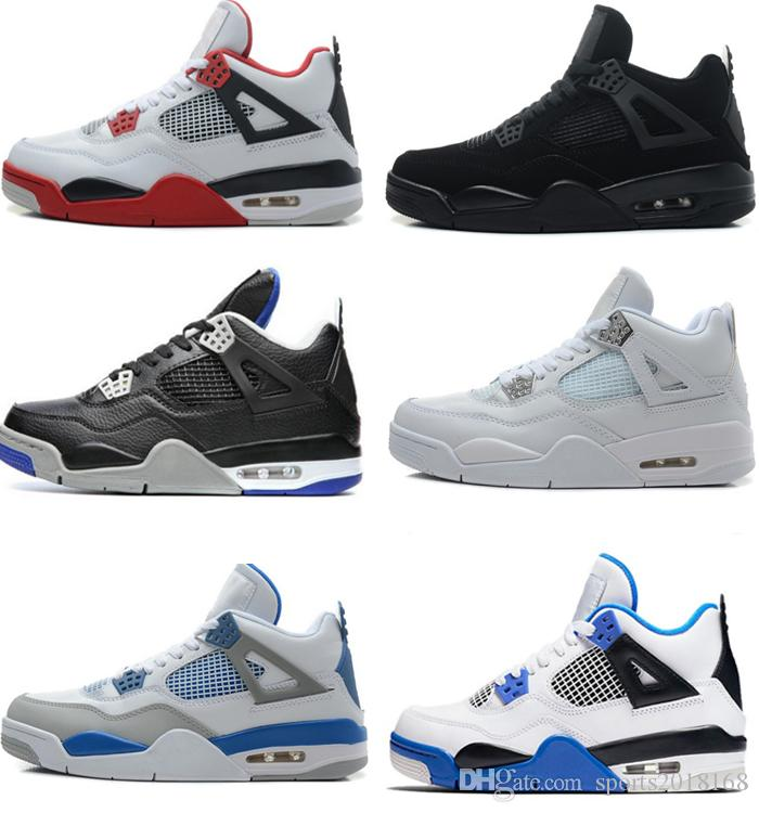 9189461a662 High Quality 2018 4 4s Basketball Shoes Men Pure Money Royalty White Cement  Premium Black Bred Fire Red Mens Sports Sneakers Size 8 13 Sneakers Men Buy  ...
