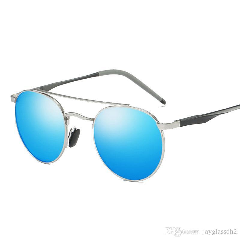Compre Homens De Magnésio De Alumínio Rodada Óculos De Sol Polarizados  Homens Mulheres Do Punk Óculos Vintage Óculos De Marca De Design De  Condução Retro ... 37e3026874