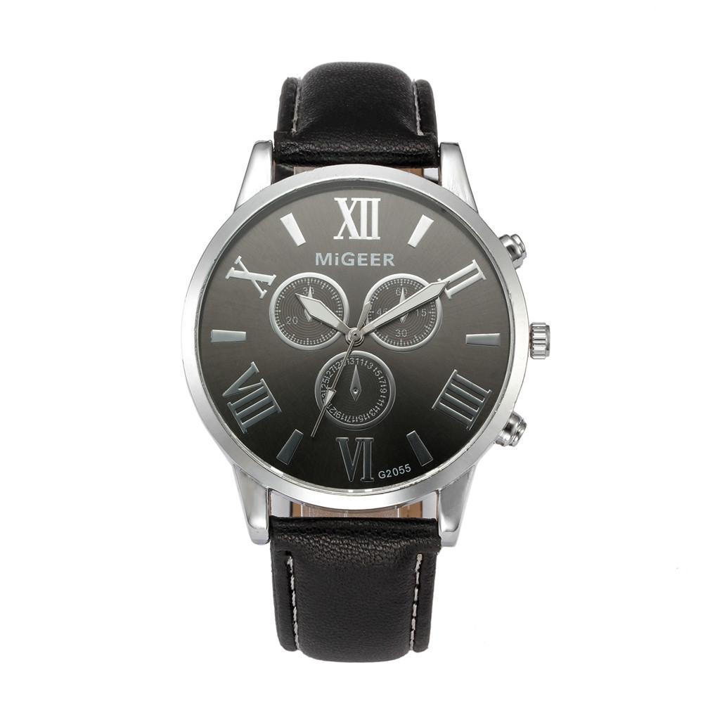 35e0e3572d4 Compre Relogio Masculino Clássico Novo 2019 Venda Quente Assista Homens  Moda Pulseira De Couro De Quartzo Casuais Relógios De PulsoSaat Reloj Hombre  De ...