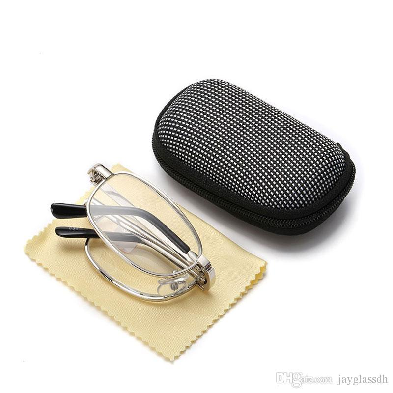Reading Glasses Full Metal Frame Glass Lenses Female Male Reading Age  Glasses Women Men Unisex Eyewear factory direct Wholesale