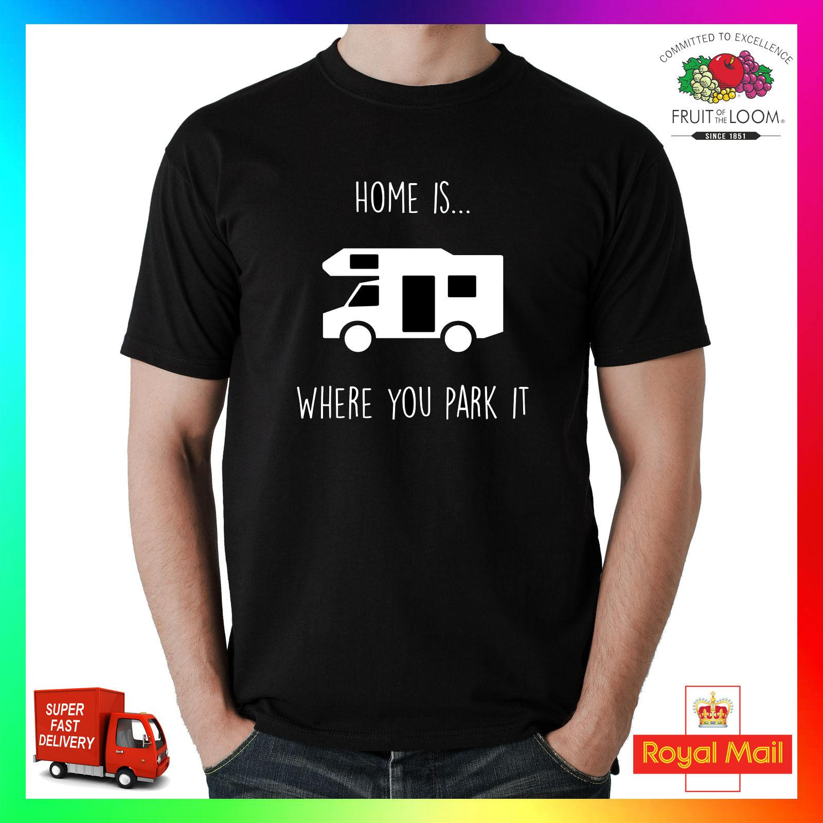 2a07e297 Home Is Where You Park T Shirt Tee TShirt Funny Gift Camper Van Men Caravan  RV Worlds Funniest T Shirts Cool Tee Shirts Cheap From Dxpstore33, .