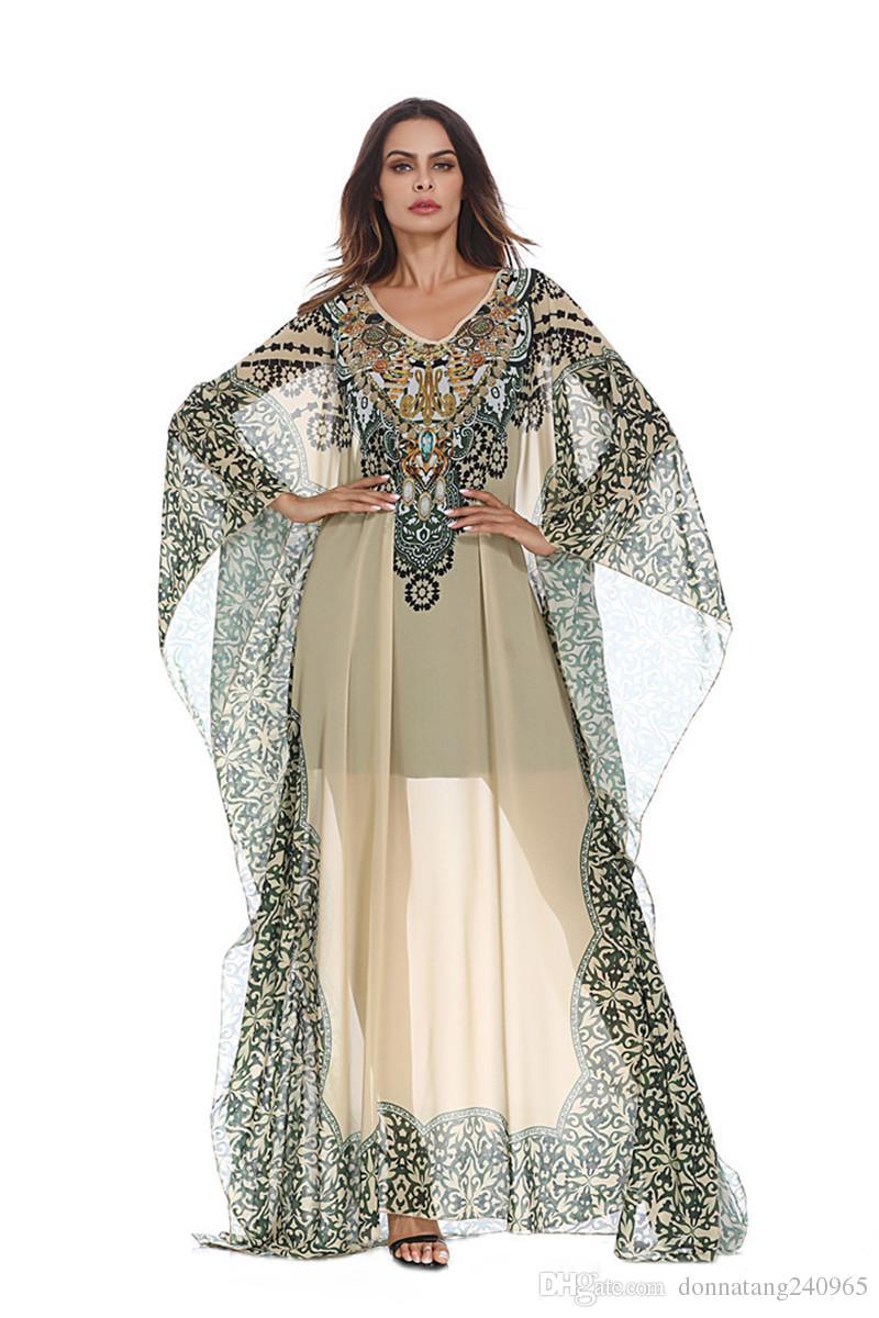 Vestito da Abaya Hijab islamico in Chiffon Abito islamico di taglia Plus. Abito da donna musulmano Abaya di alta qualità